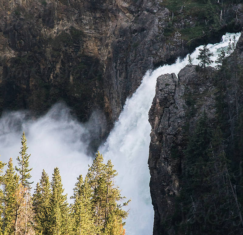 Waterfall in Yellowstone National Park by Per Swantesson for Stocksy United