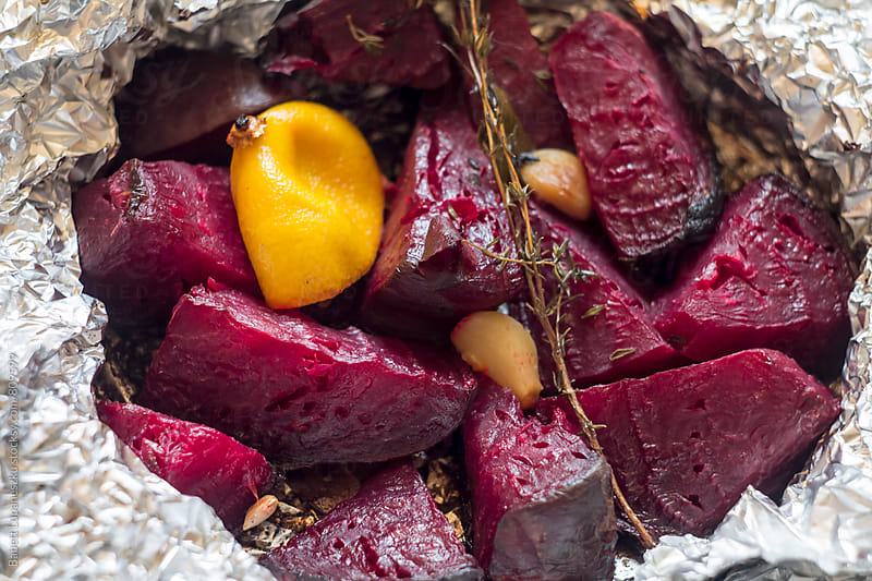Roast beetroot by Babett Lupaneszku for Stocksy United