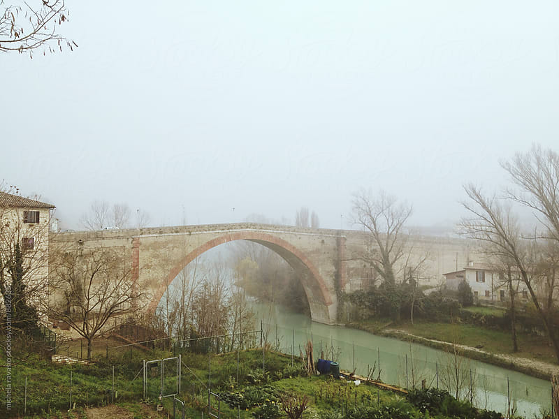 Old bridge of a small town in central Italy by michela ravasio for Stocksy United