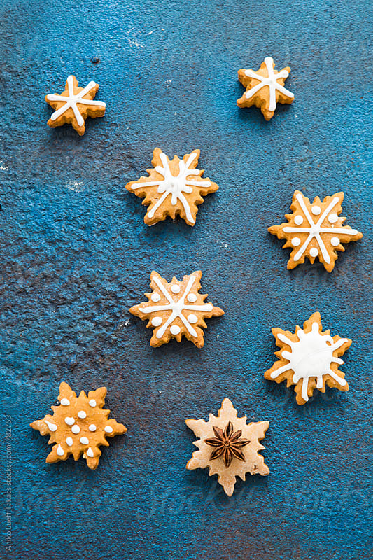 Christmas cookies with icing by Aniko Lueff Takacs for Stocksy United