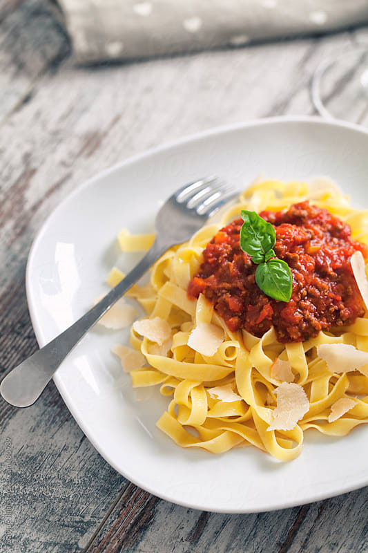 Tagliatelle Bolognese by Davide Illini for Stocksy United