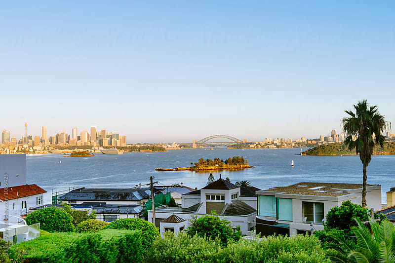 a view of Sydney as seen from Vaucluse by Gillian Vann for Stocksy United