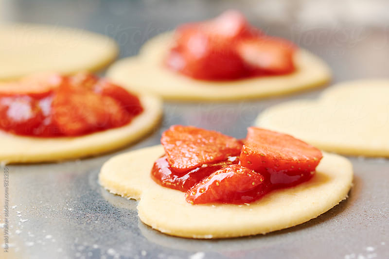 Making Strawberry Filled Pierogi by Harald Walker for Stocksy United