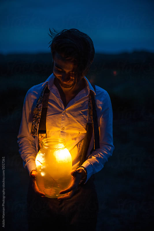 Lightning in a bottle by Addie Mannan Photography for Stocksy United