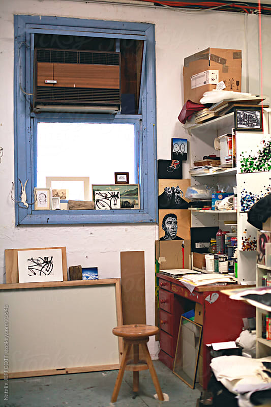 artists studio by Natalie JEFFCOTT for Stocksy United