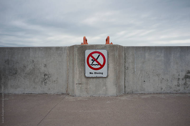 No Diving by Lucas Saugen for Stocksy United