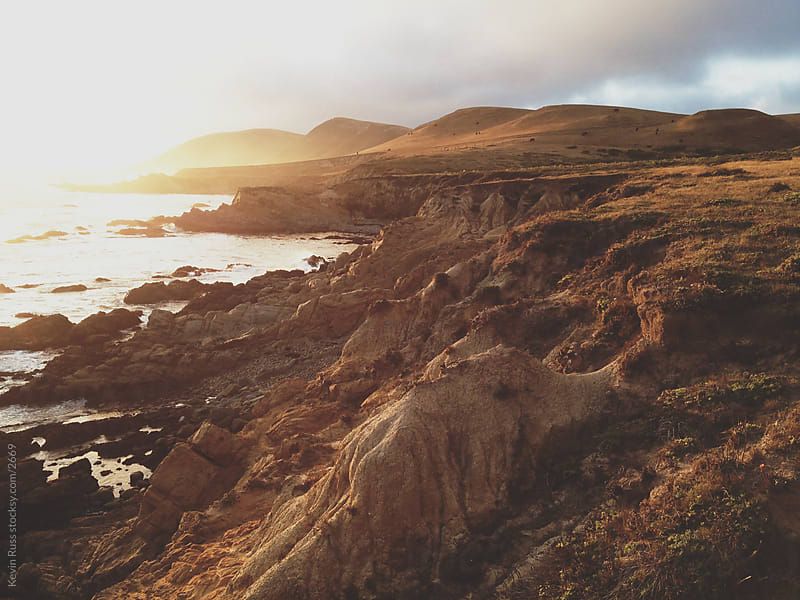Rugged California Sunset Coast by Kevin Russ for Stocksy United