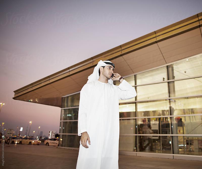 Arab Businessman in Dubai by Hugh Sitton for Stocksy United