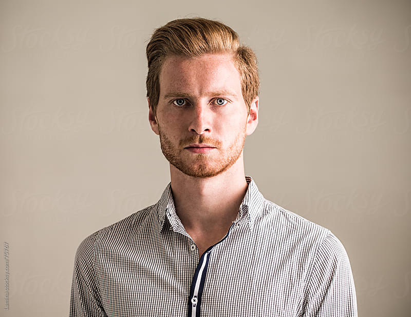 Portrait of a Ginger Caucasian Man by Lumina for Stocksy United