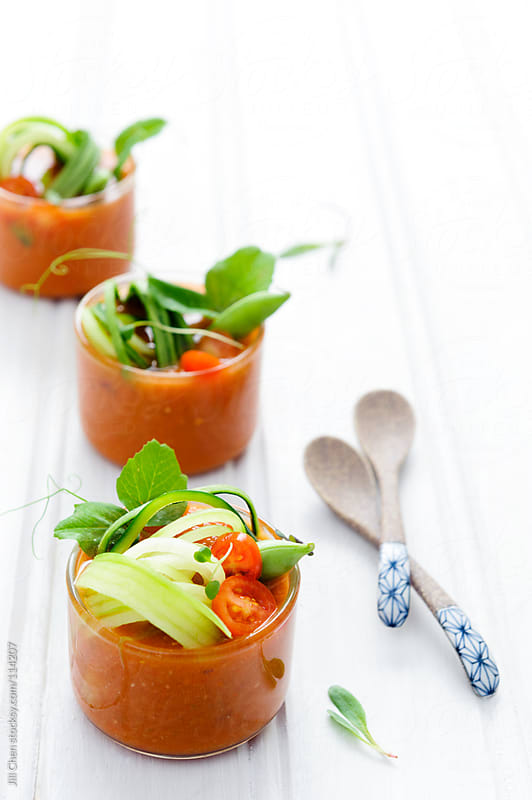 Gazpacho traditional spanish cuisine  by Jill Chen for Stocksy United
