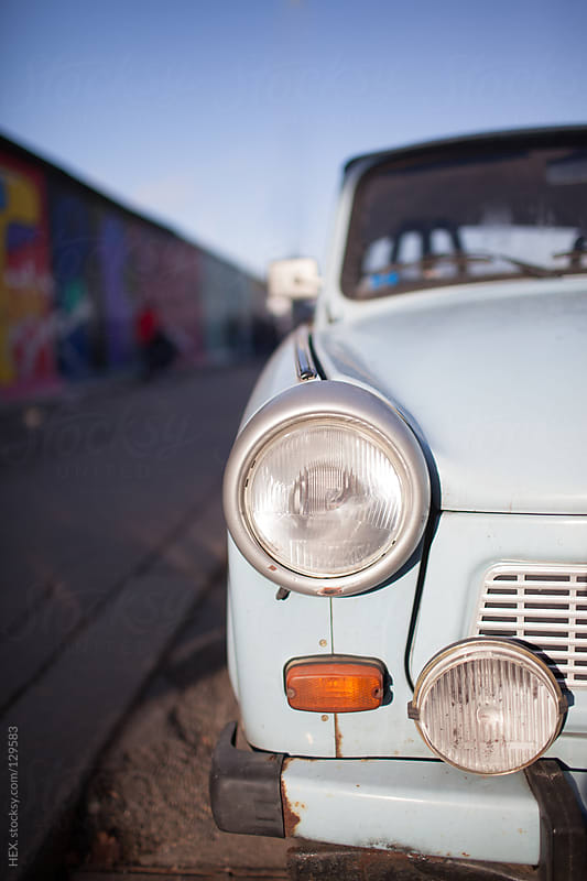 Car in Front of Berlin Wall by HEX. for Stocksy United
