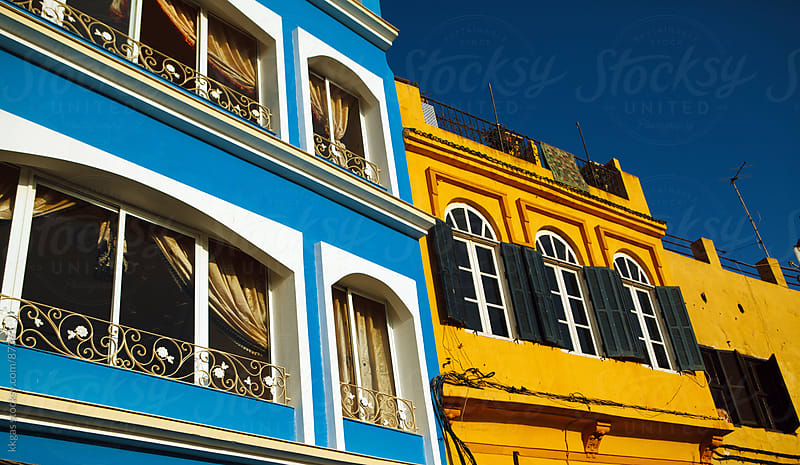Colorful buildings in Tangiers  by kkgas for Stocksy United