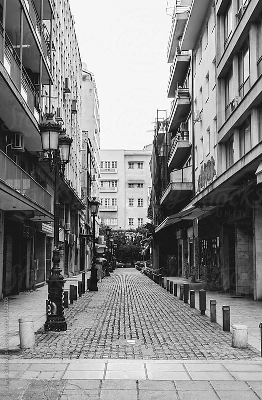 Side street in Thessaloniki by Tatjana Zlatkovic for Stocksy United