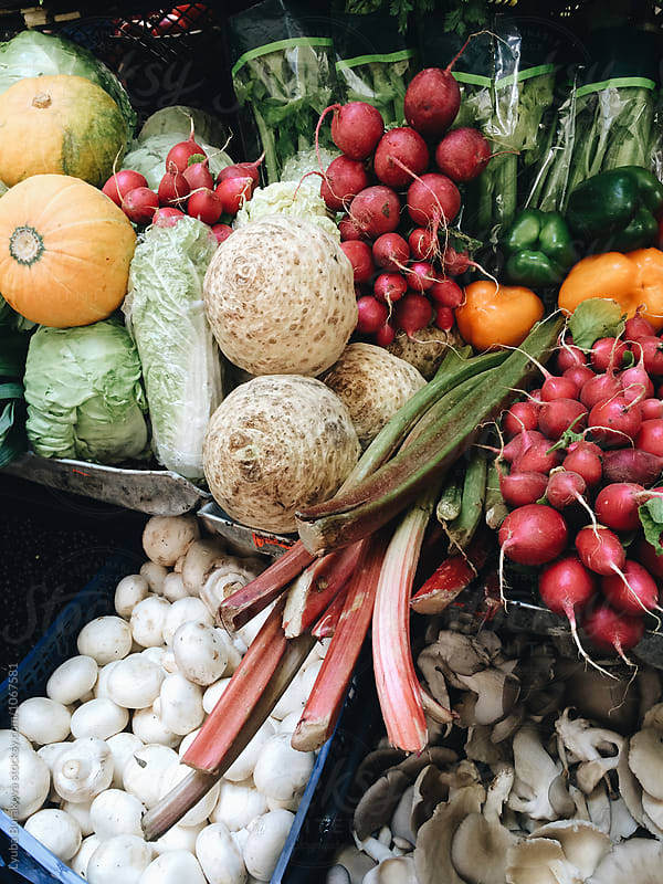 Vegetables on farmers market by Lyuba Burakova for Stocksy United