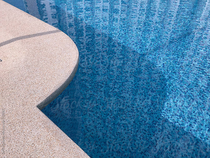 Swimming pool background pattern with blue tiles by Søren Egeberg Photography for Stocksy United