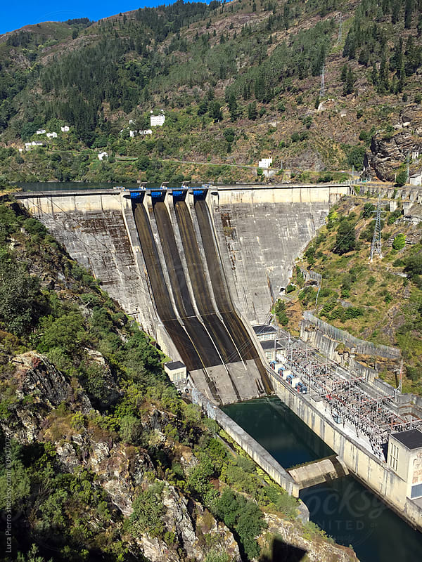Dam of hydroelectric power plan by Luca Pierro for Stocksy United