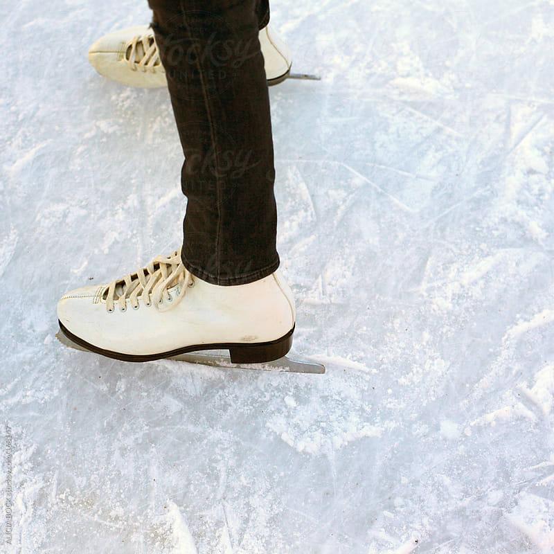 White Ice Skates by ALICIA BOCK for Stocksy United