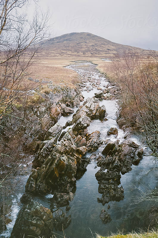 A stream with rocks in it on the Scottish Highlands by Ivo de Bruijn for Stocksy United