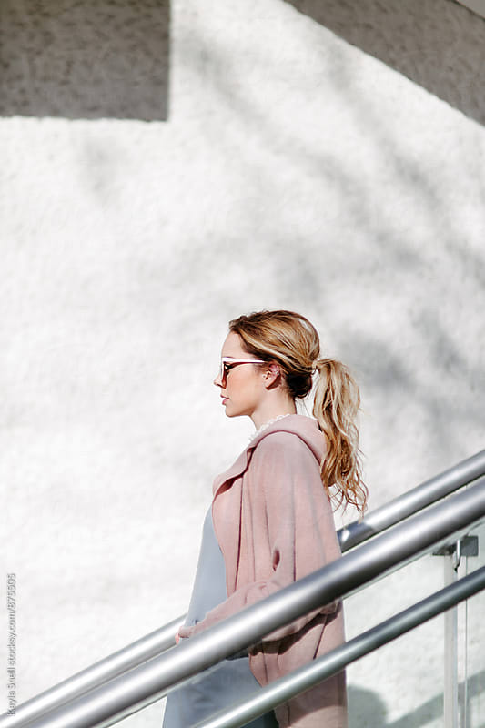 Profile view of a young woman by Kayla Snell for Stocksy United