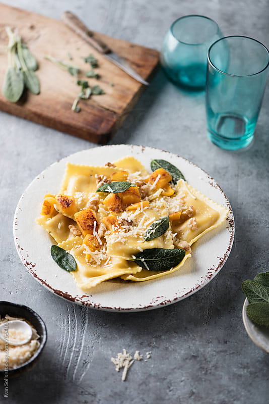 Butternut squash ravioli by Ivan Solis for Stocksy United