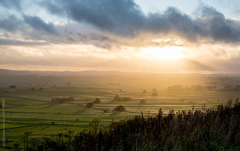 Beautiful sunset over English countryside by Jon Attaway for Stocksy United
