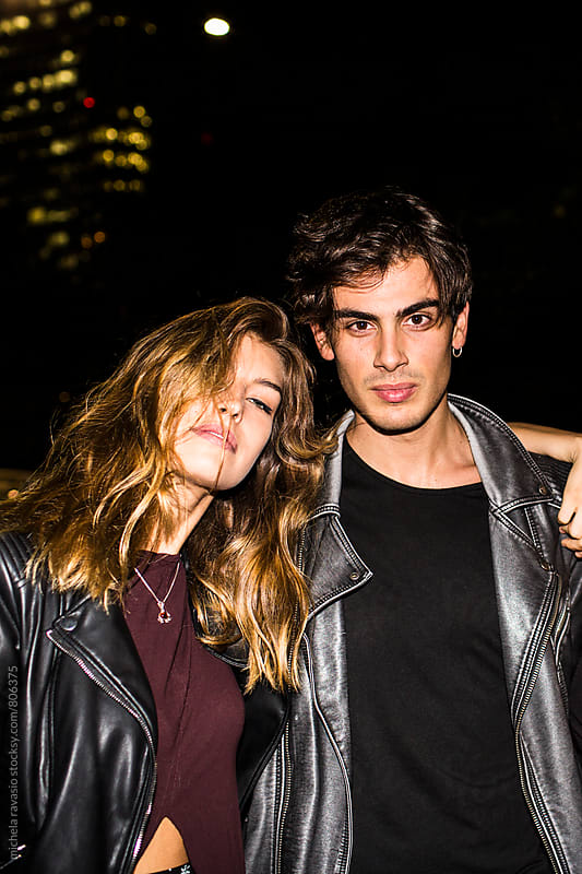 Portrait of young, wild and free couple by michela ravasio for Stocksy United