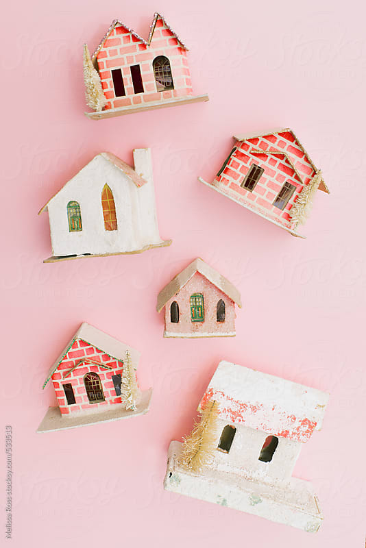 Little pink houses. by Melissa Ross for Stocksy United