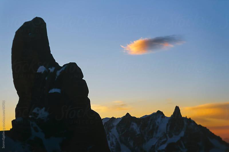 Mountain sunrise scenery in Chamonix Mt Blanc by Soren Egeberg for Stocksy United