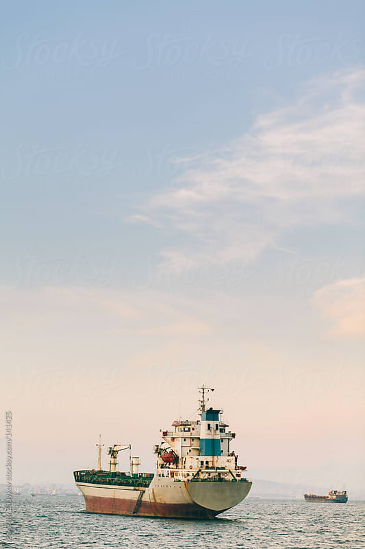 Ship in the Sea of ​​Marmara by Borislav Zhuykov for Stocksy United