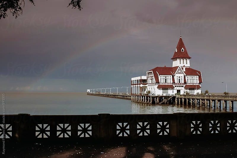 Rio del Plata with Rainbow Buenos Aires, Argentina by Raymond Forbes LLC for Stocksy United