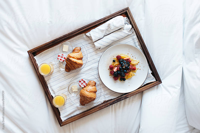 Room service breakfast by Kayla Snell for Stocksy United