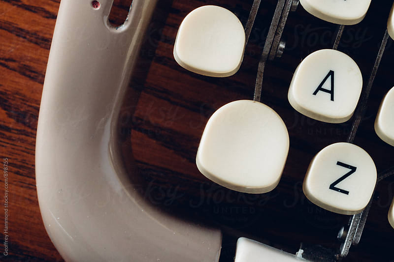 A to Z Closeup of Old Typewriter Keyboard by Geoffrey Hammond for Stocksy United