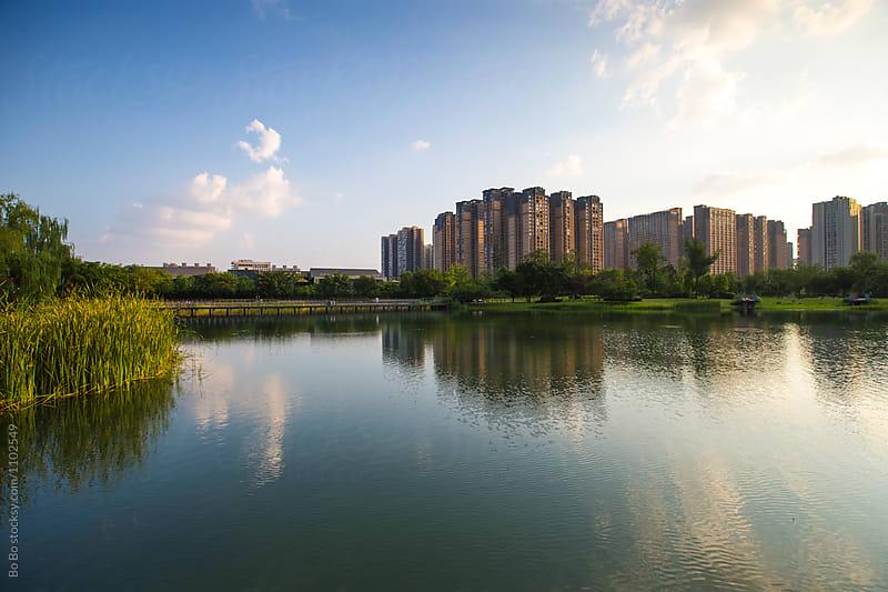 cityscape of Chengdu Sichuan China by cuiyan Liu for Stocksy United