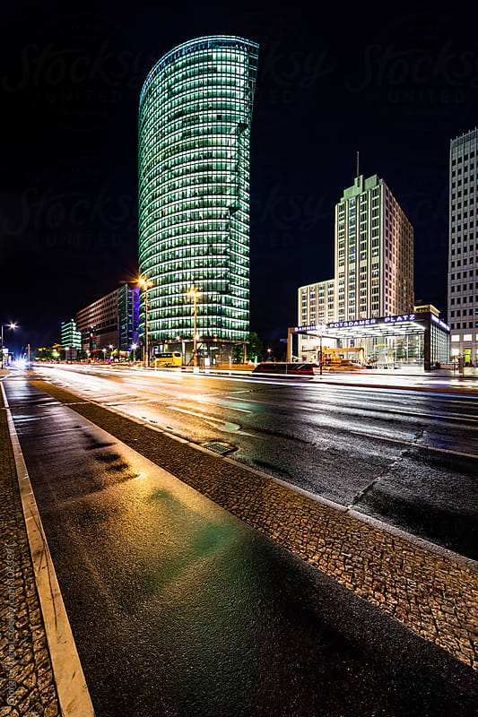 Potsdamer Platz by Night in Berlin, Germany by Giorgio Magini for Stocksy United