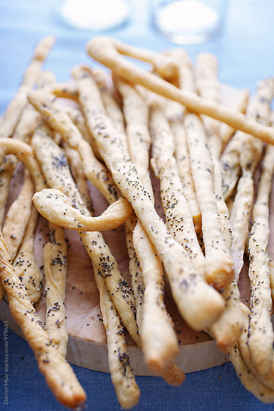 Gluten free and chia seed bread sticks. by Darren Muir for Stocksy United