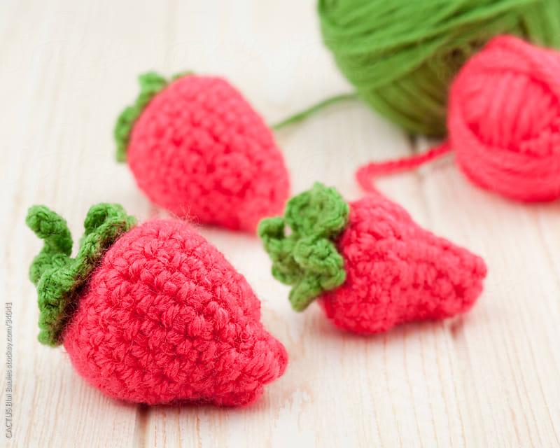 Amigurumi, handmade strawberries.  by CACTUS Blai Baules for Stocksy United