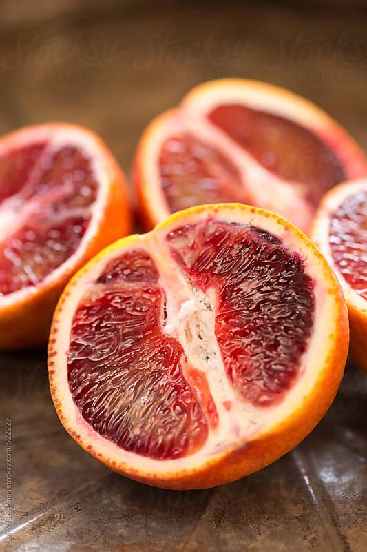 Sliced Blood Oranges by Jeff Wasserman for Stocksy United