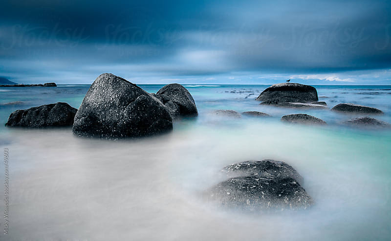 Long exposure rocky coastline by Micky Wiswedel for Stocksy United