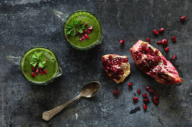 Green smoothie by Pixel Stories for Stocksy United