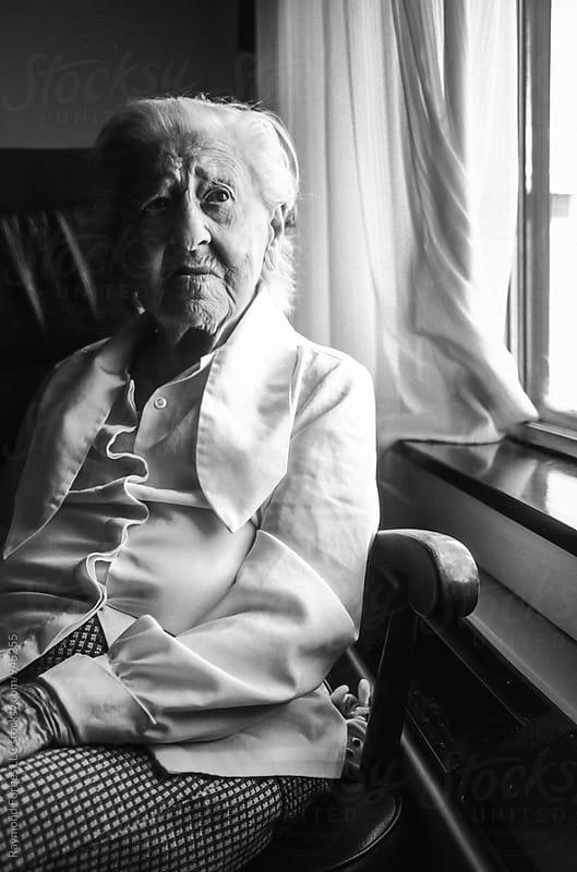 Portrait of Lovely Elderly Woman by Raymond Forbes LLC for Stocksy United