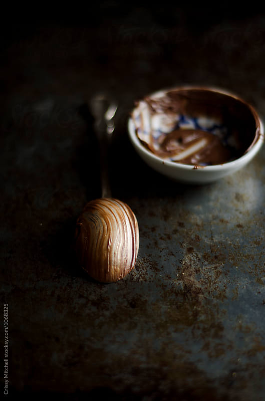 chocolate spread and a spoon by Crissy Mitchell for Stocksy United