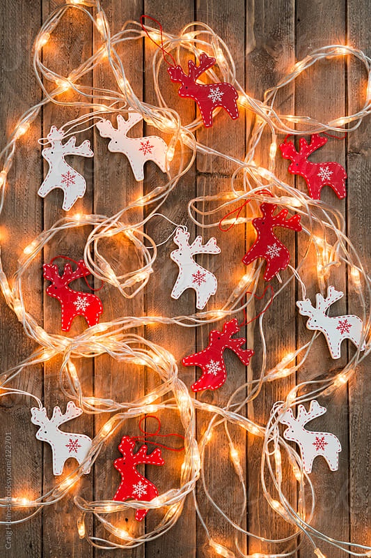 Reindeer Christmas decorations by Craig Holmes for Stocksy United