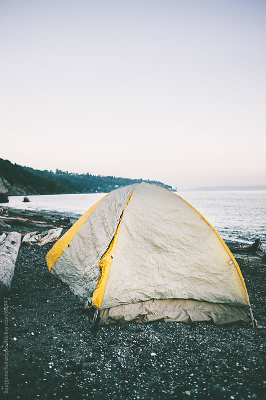 Tent on the beach by Suprijono Suharjoto for Stocksy United