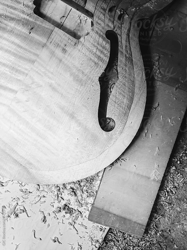 Guitar under construction by GIC for Stocksy United