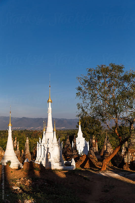 Ancient sites in Inle Lake, Myanmar by Jino Lee for Stocksy United