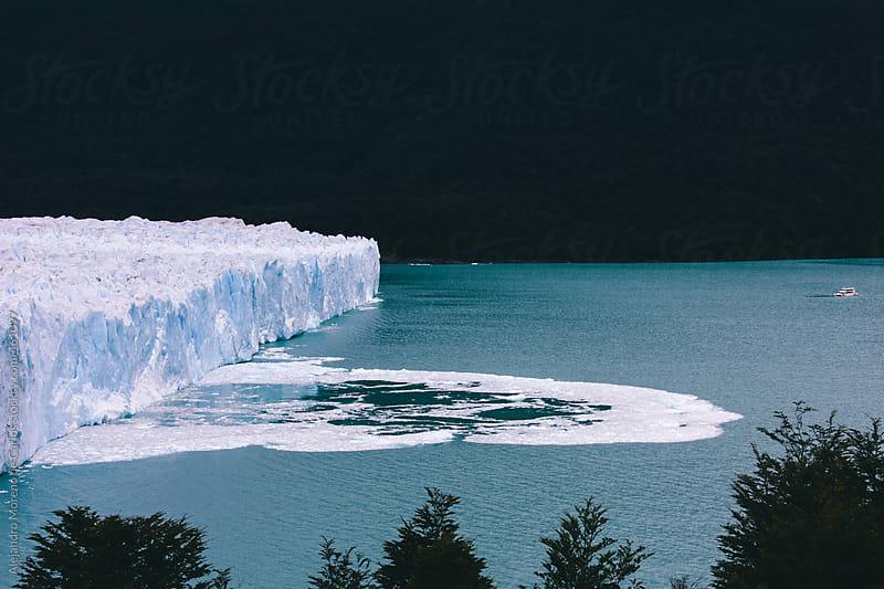 Glacier wall melting into the ocean. Perito Moreno, Argentina, Patagonia by Alejandro Moreno de Carlos for Stocksy United