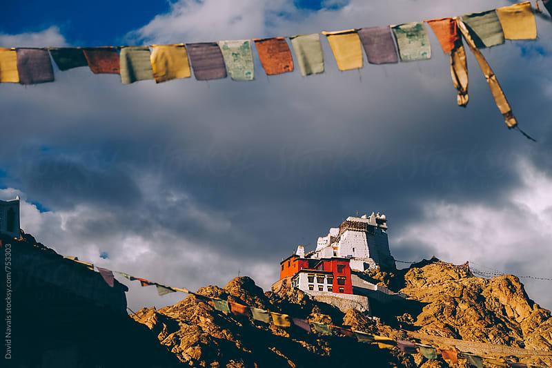 Namgyal Tsemo Gompa at sunset by David Navais for Stocksy United