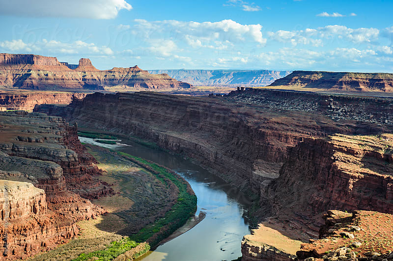Colorado river canyon in Canyonlands National Park by Peter Wey for Stocksy United