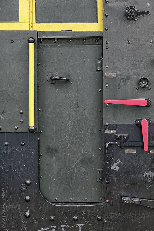The door of an old locomotive by Marcel for Stocksy United