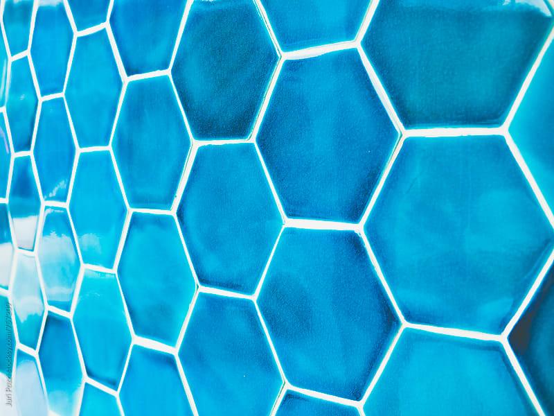 blue ceramic tiles by Juri Pozzi for Stocksy United